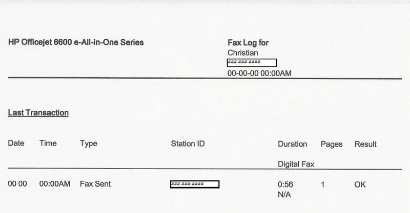 HP Officejet 4630: Officejet 4630 fax confirmation Page