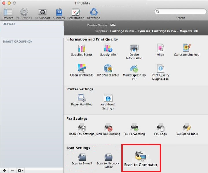 Hp Scan Software Mac Os X 10.10