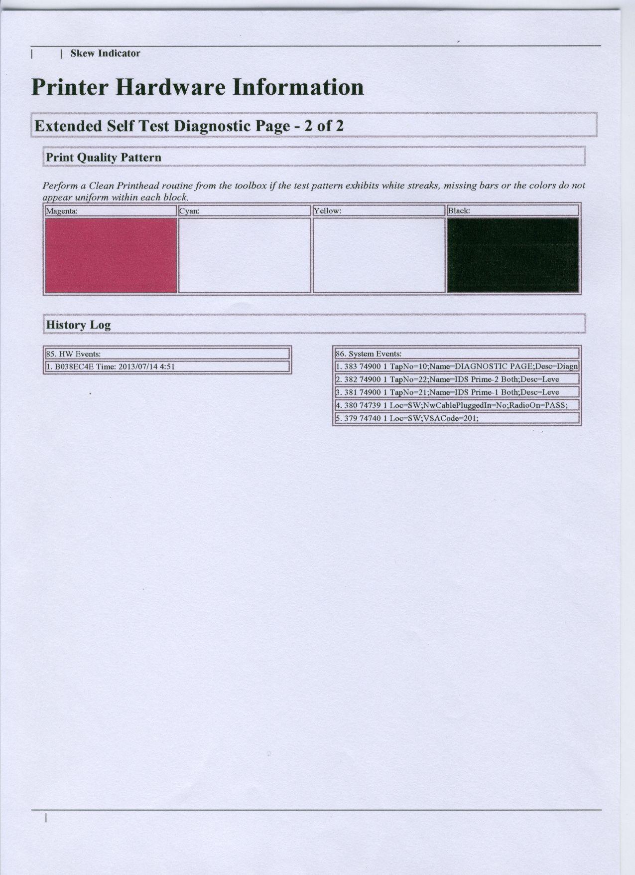 HP D4360 printer - alignment problem? - eehelp com